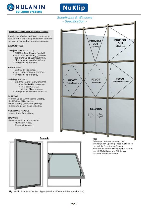 Aluminium Shopfronts & Windows Specifications & Usage | Aluminium